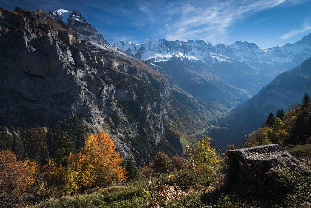 Lauterbrunnen Valley from Murren, Switzerland
