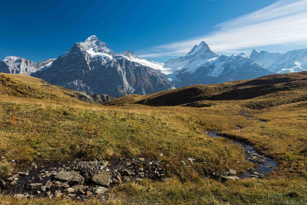 Hiking at First above Grindelwald, Switzerland