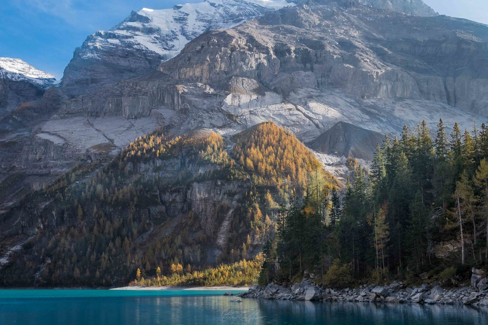 """Delta"" Oeschinen Lake in Bernese Oberland Switzerland"