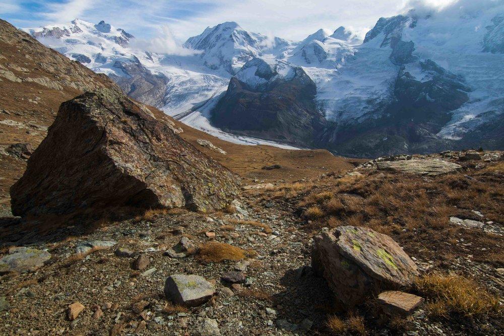 Swiss Alps along the Gornergrat Railway