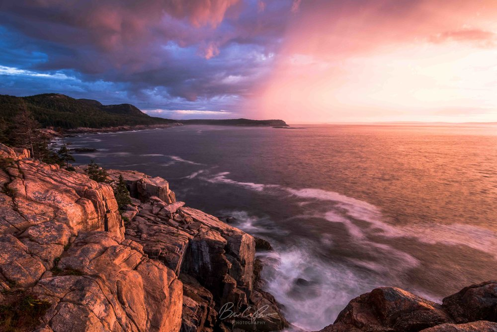 Stormy Sunrise from Otter Cliffs at Acadia National Park, Maine