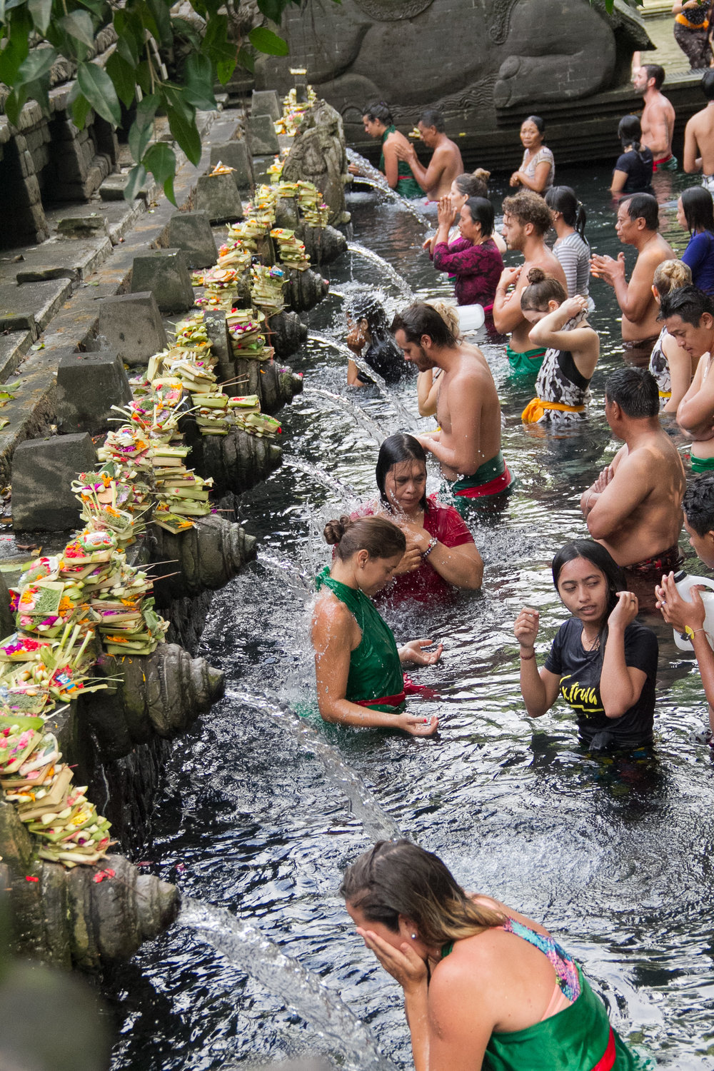 Cleansing at the water temple