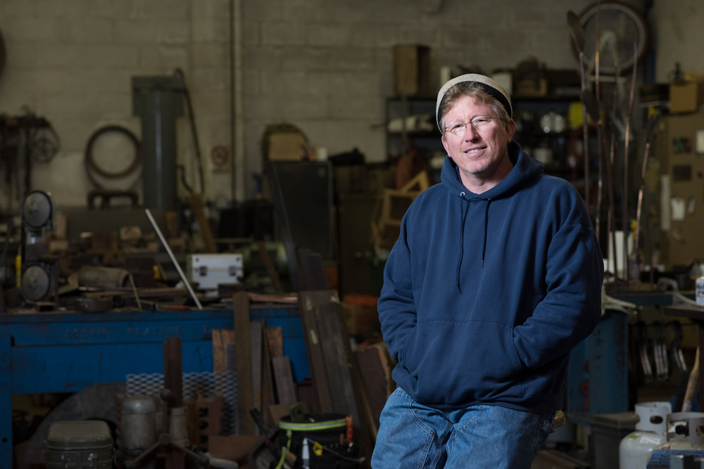 Steve Hirt, Glass & Metal Artist | Photography: Nataworry Portrait Photography