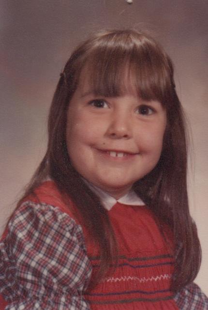 Heidi Shudra Fry, age 6, October 1982.