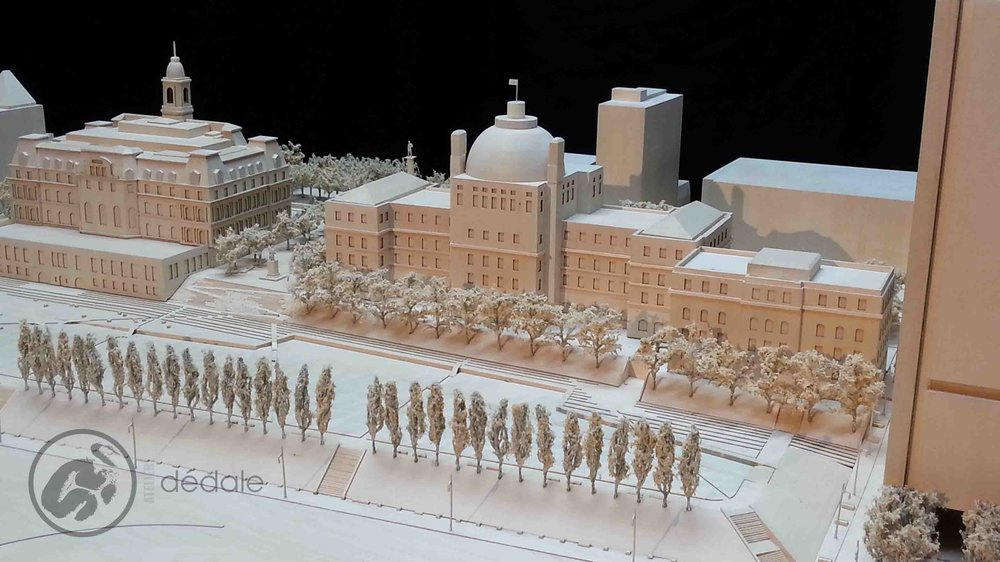 Place Vauquelin project architectural models