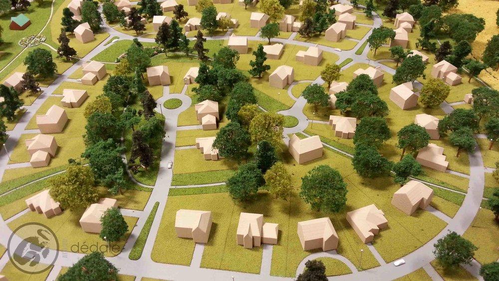 Projet Senneville maquette architecturale