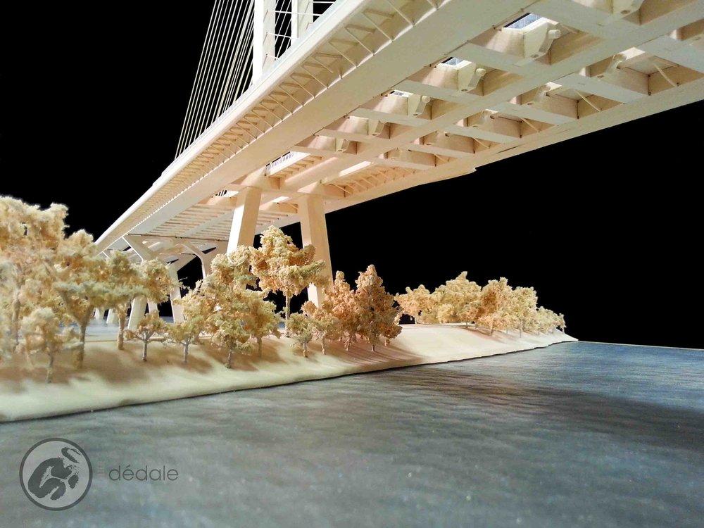 Champlain bridge project architectural models