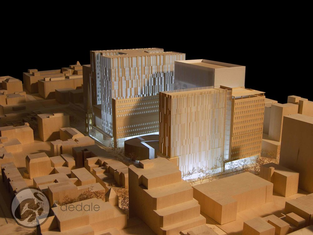 CHUM maquette architecturale