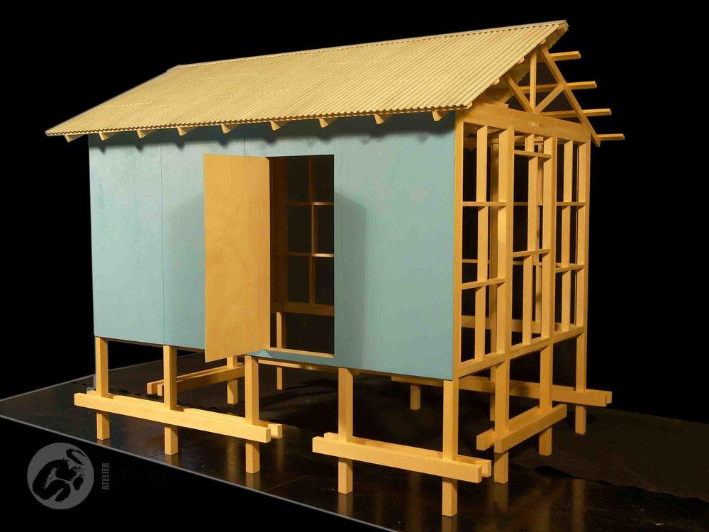 Projet Croix rouge Haiti maquette architecturale