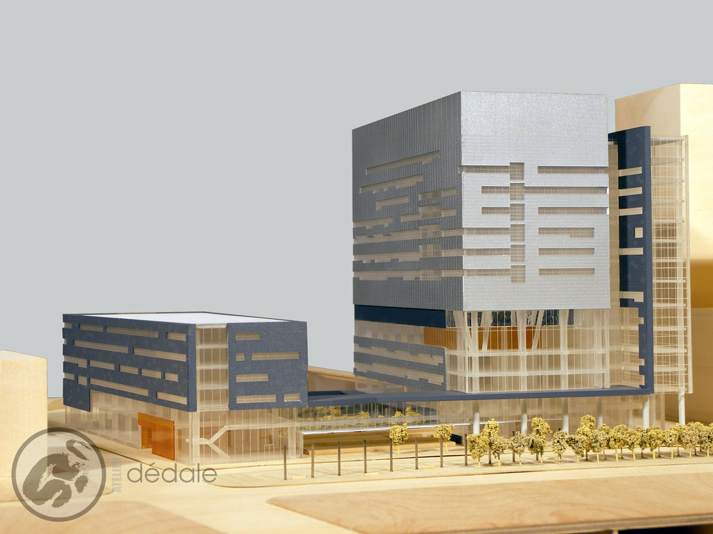 Projet CHUM maquette architecturale