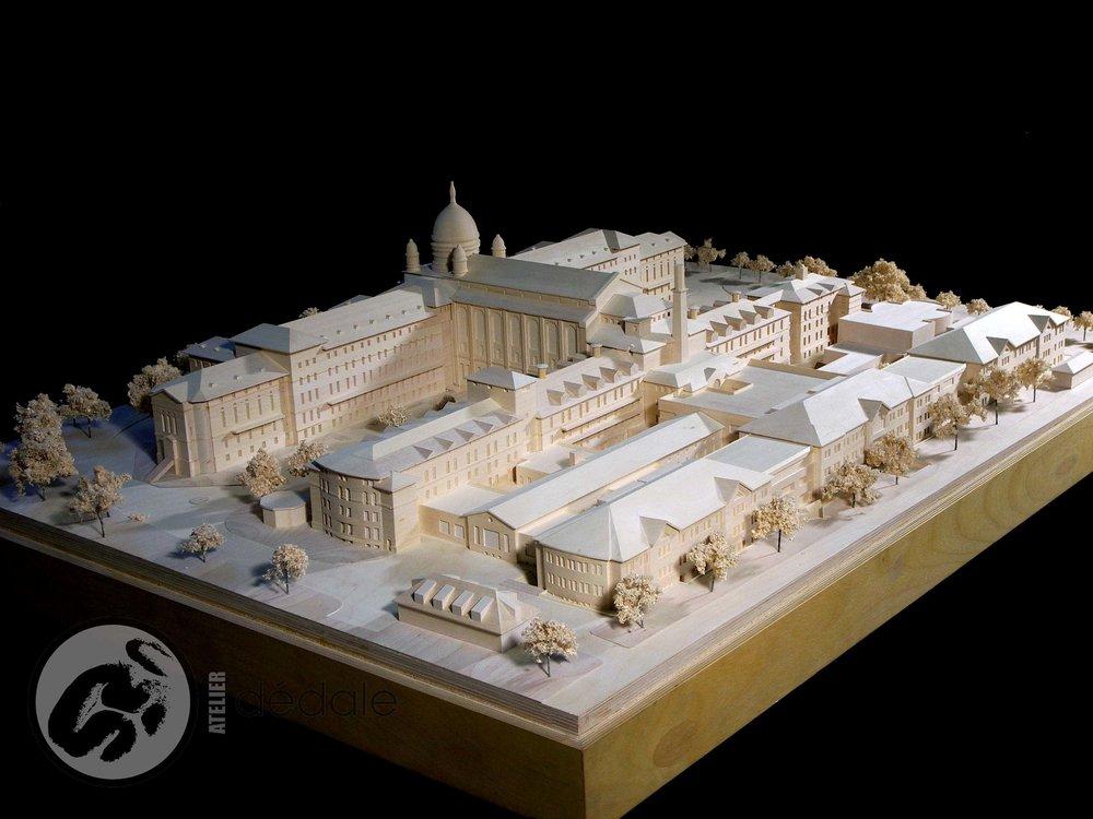 Projet Collège Dawson maquette architecturale