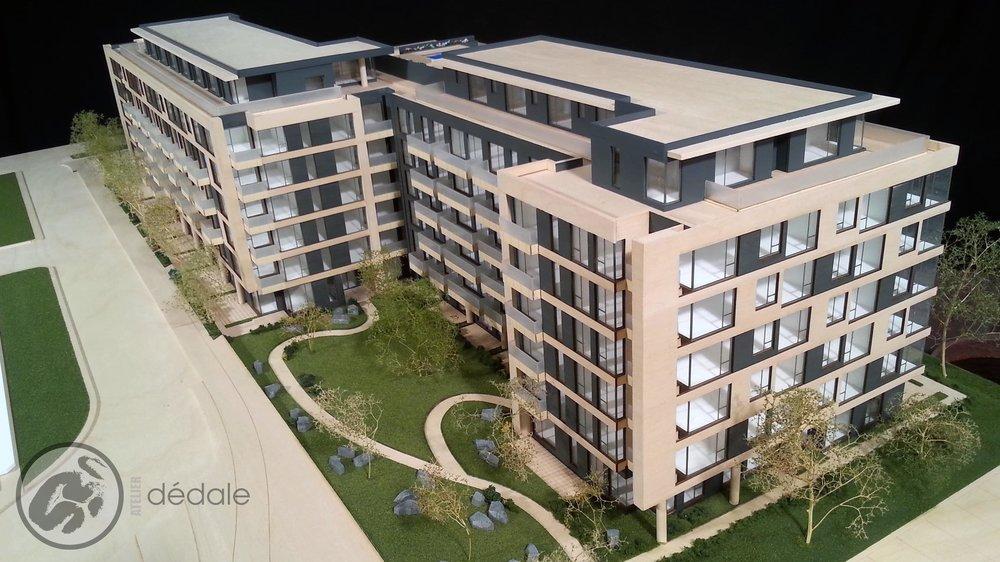 Projet U31 maquette architecturale