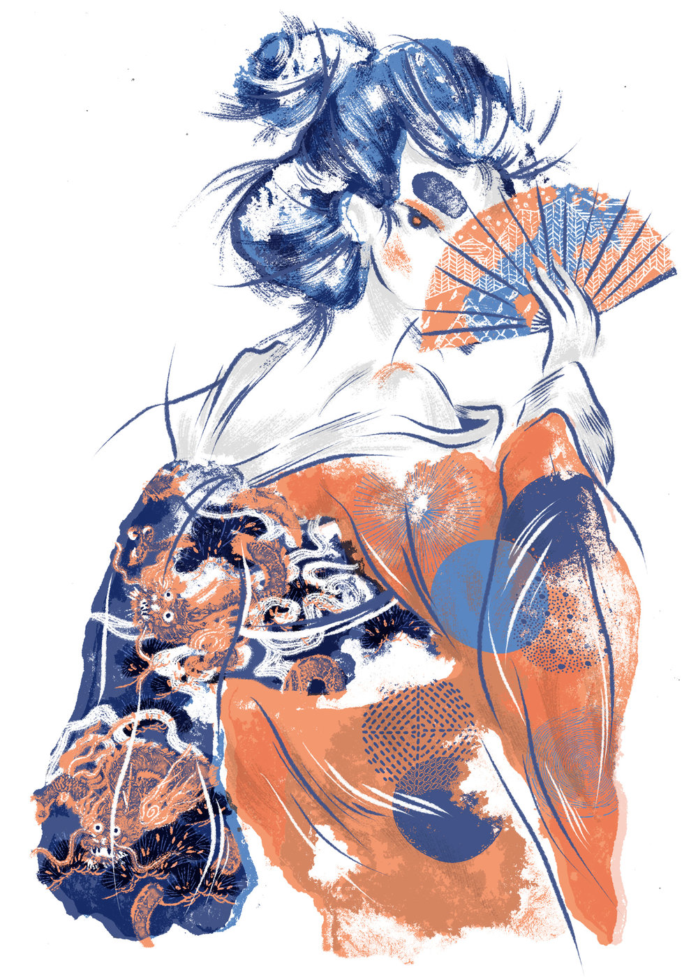 "traditiONAL   ""A GEISHA KIND OF LOOKING LADY BUT WITH A FUN KIND OF EDGE"""