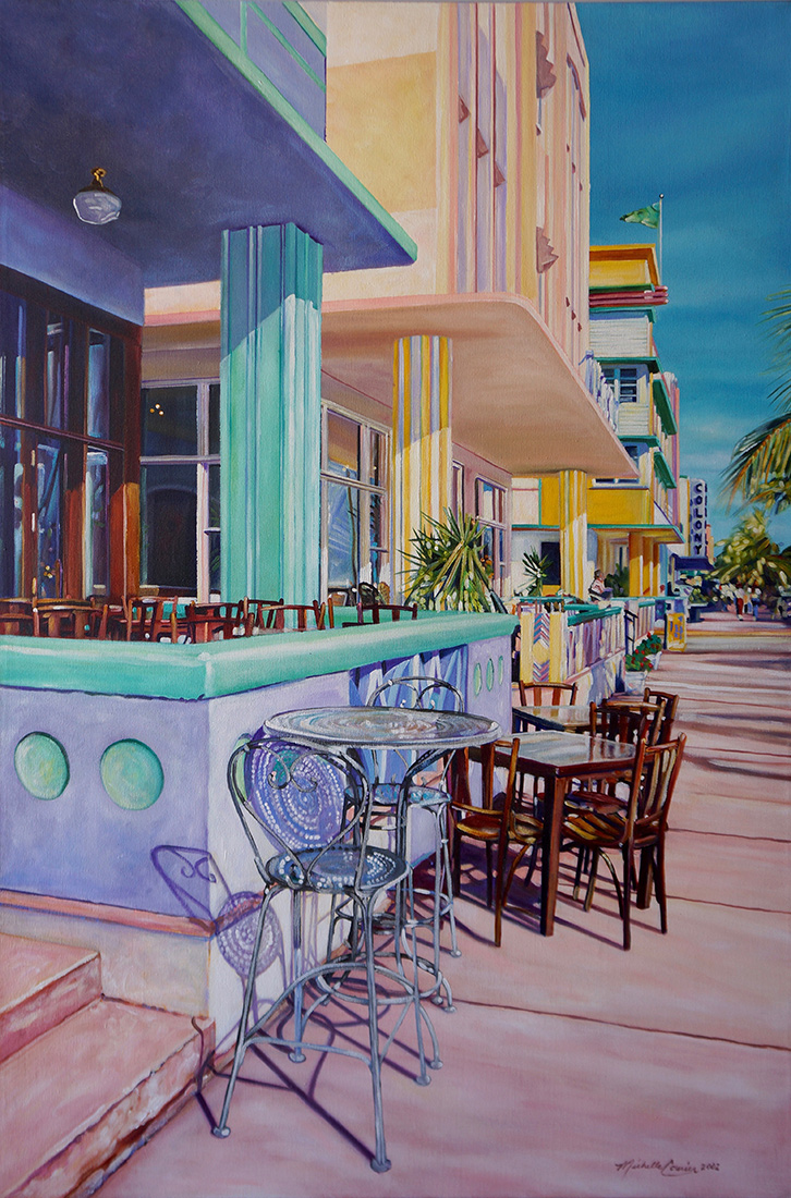 "Ocean Drive, Acrylic on Canvas, 36""x54"""