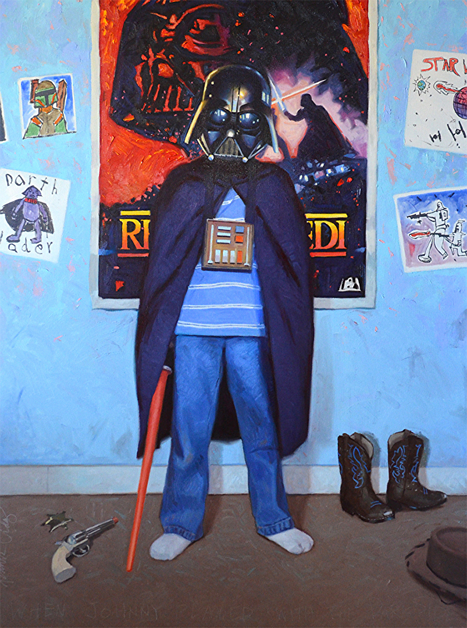 "'When Johnny Played with the Dark Side'-  oil on canvas, 48"" x 36"""