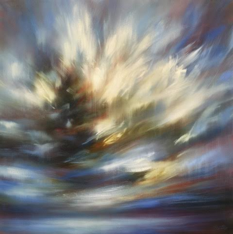 "'Restless'-  48"" x 48"", oil on canvas.  $4,800."