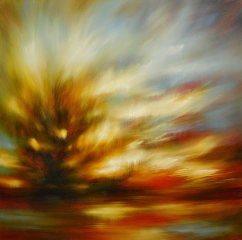 "'Fire Within'-  48"" x 48"", oil on canvas.  $4,800."