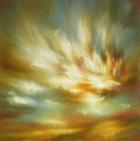 "'Moment of Change'-  36"" x 36"", oil on canvas.  $2,800."