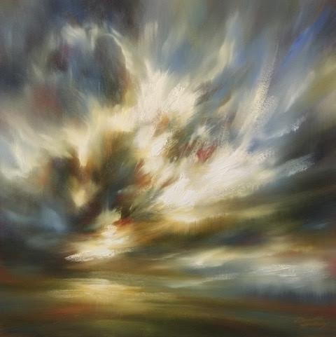 "'Breaking Light II'-  30"" x 30"", oil on canvas.  $1,800."