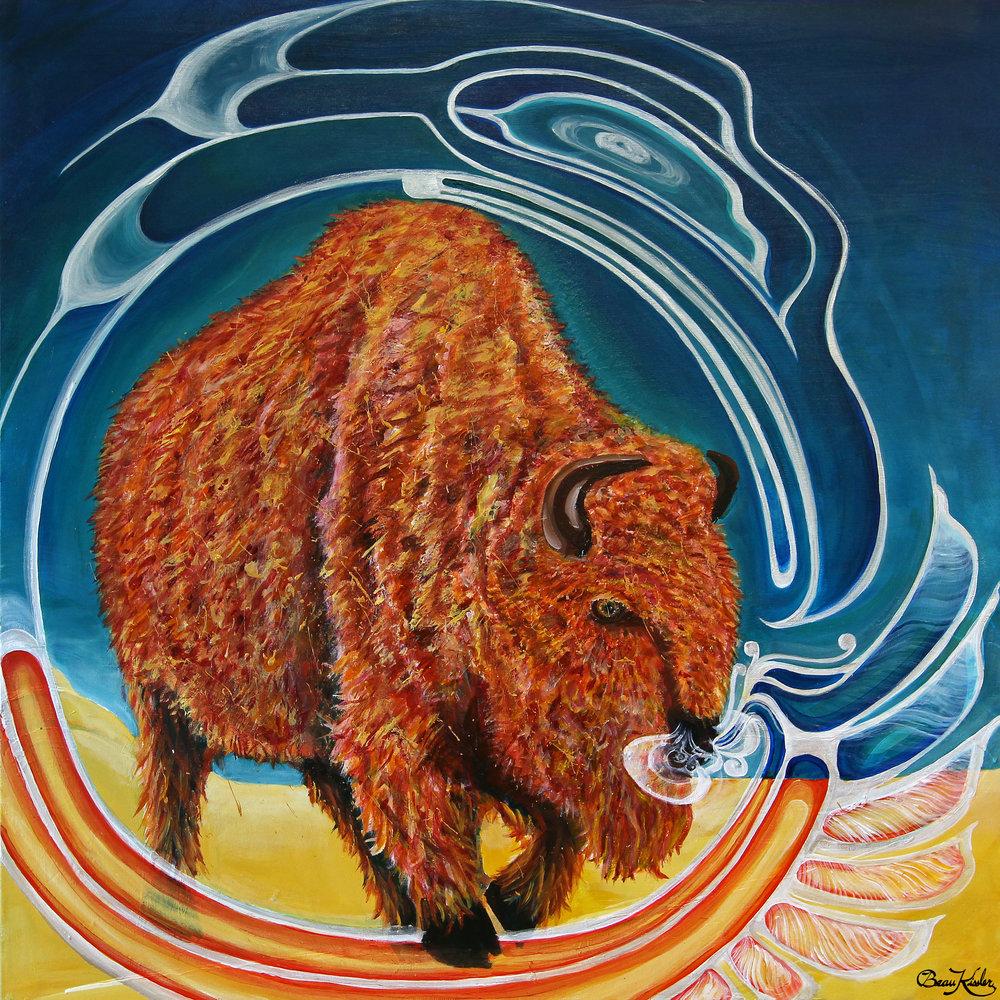 Dream of the Buffalo 36 x 36