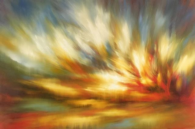 "'Fire Light'-  40"" x 60"", oil on canvas.  $5,000."