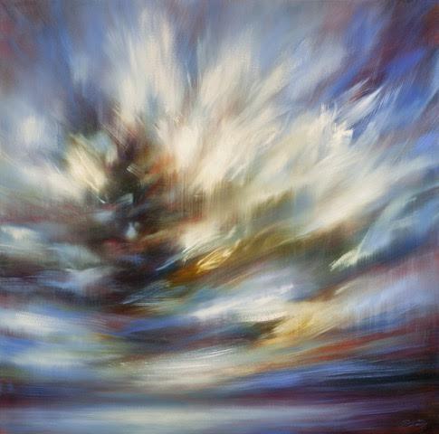 "'Restless'- 48"" x 48"", oil on canvas, $4,800."