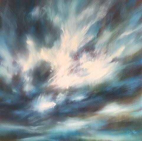 "'Sky study I'- 30"" x 30"", oil on canvas, $1,800."