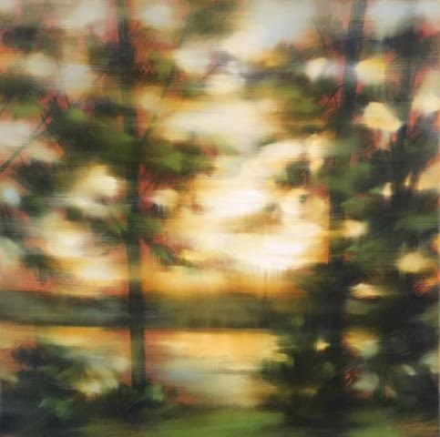 "'Fleeting Moment Summer- study I'- 30"" x 30"", oil on canvas, $1,800."