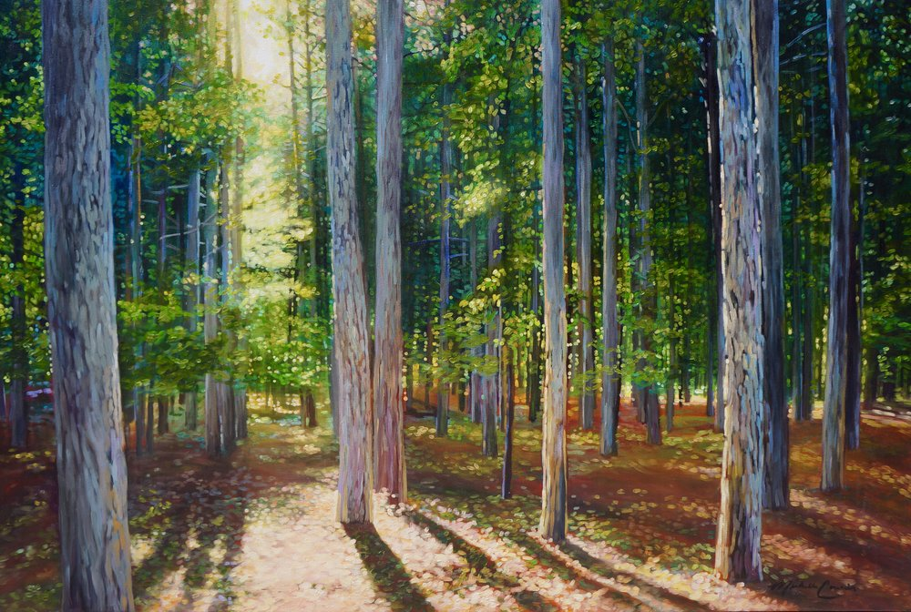 MICHIGAN WOODS 48X72 IN ACRYLIC  $11,500  GICLEE PRINTS AVAILABLE IN VARIES SIZES ON PAPER/CANVAS