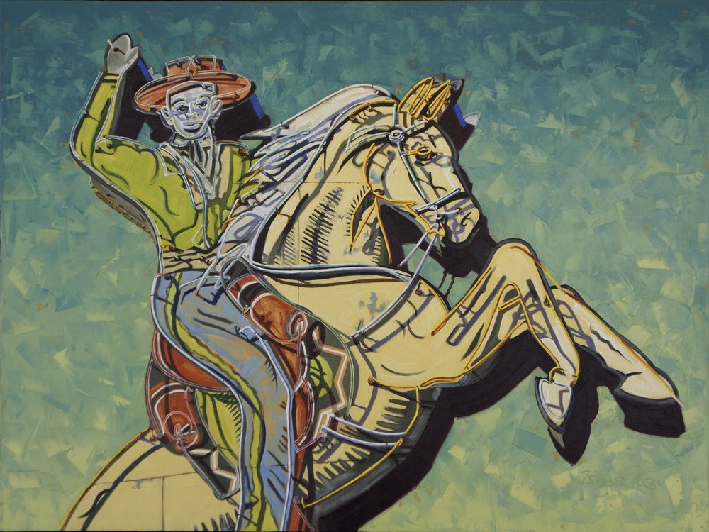 EL CAMINO PALOMINO 36X40 OIL ON CANVAS $8400