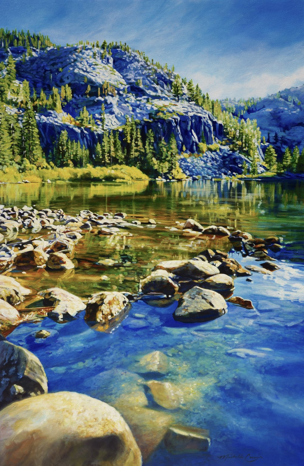 MOUNTAIN LAKE 48X72 IN  PRINTS AVAILABLE IN VARIOUS SIZES ON PAPER/CANVAS