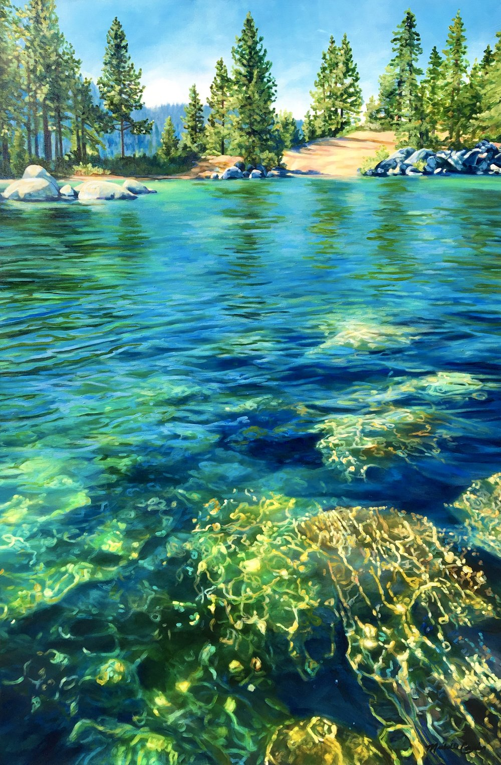 SUMMER LAKE 48X72 IN ACRYLIC  $13,800  SOLD 🔴   GICLEE PRINT ON CANVAS OR PAPER AVAILABLE   18X27 IN | 38X55 IN