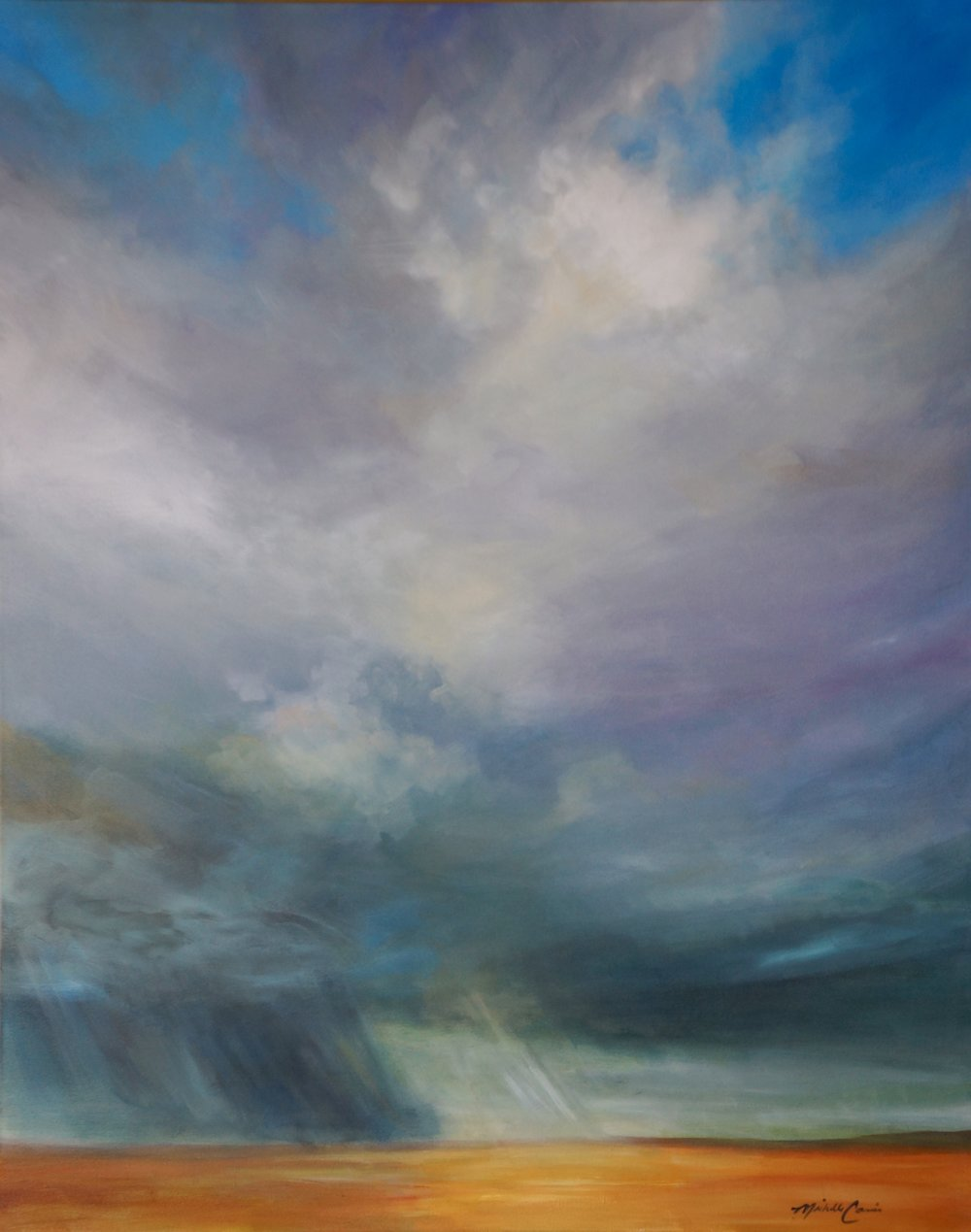 STORM OVER THE PLAIN 48 X 60 IN $8,500.  GICLEE PRINTS AVAILABLE IN VARIES SIZES ON PAPER/CANVAS