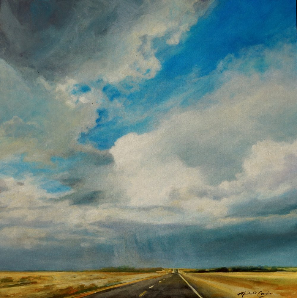 ROAD TRIP 1  48X48 IN ACRYLIC ON CANVAS  $9600  SOLD  GICLEE PRINTS AVAILABLE IN VARIES SIZES ON PAPER/CANVAS