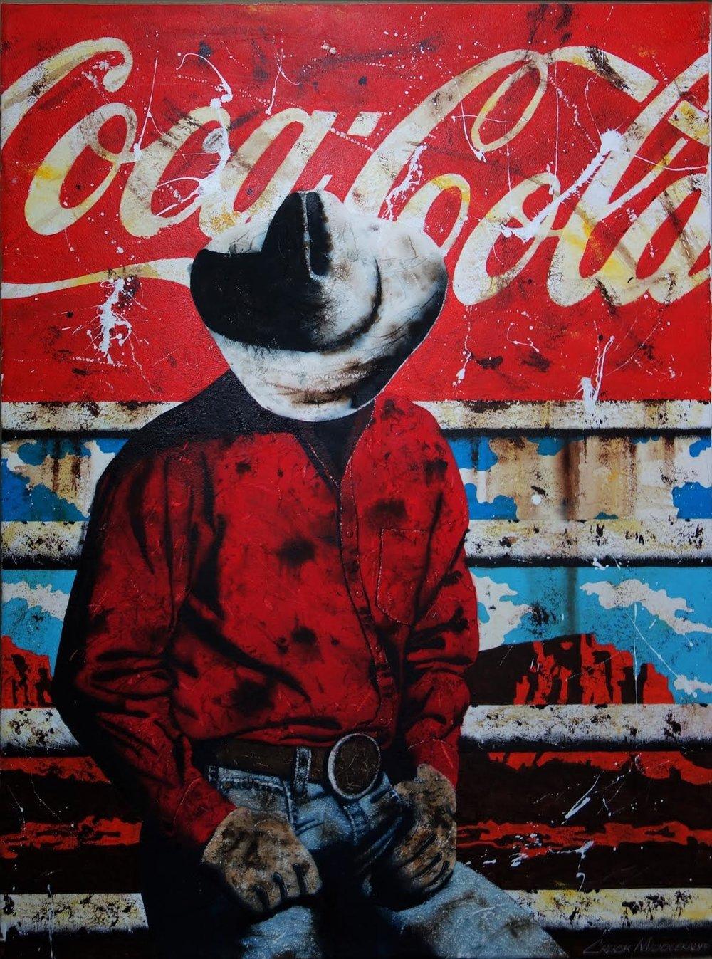 Coco Cola Cowboy, 40 x 30,Watercolor and Acrylic $3,550