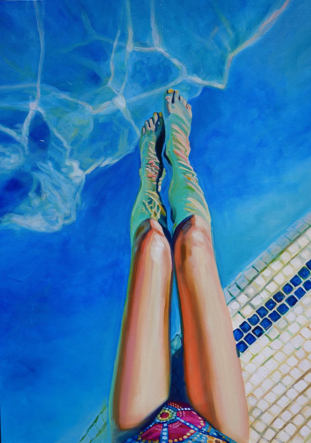 SWIMMING POOL  36X48 IN  $6,900  GICLEE PRINTS AVAILABLE IN VARIES SIZES ON PAPER/CANVAS
