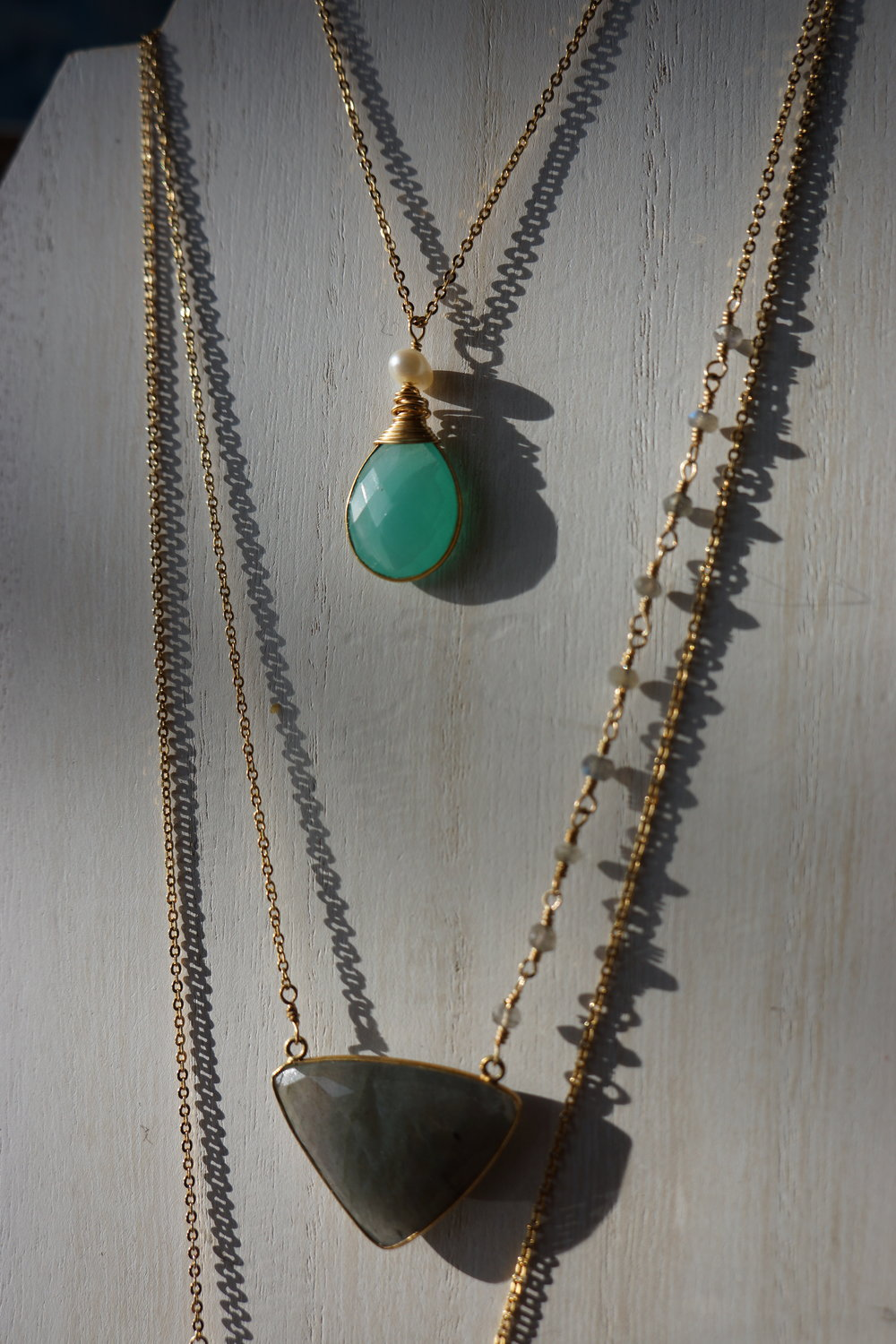 METAL AND PRECIOUS GEMS BY ALICIA MCGURK STARTING AT $40.00  many styles available