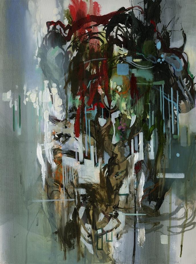 """"""" THE KEYS """" 22.5x30 Oil and acrylic on canvas"""