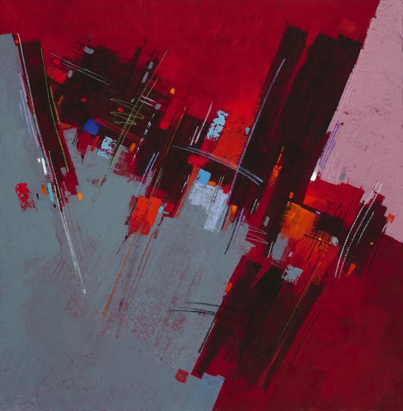 """ METROPOLIS "" 48x50 acrylic (frame not shown)  $5800"