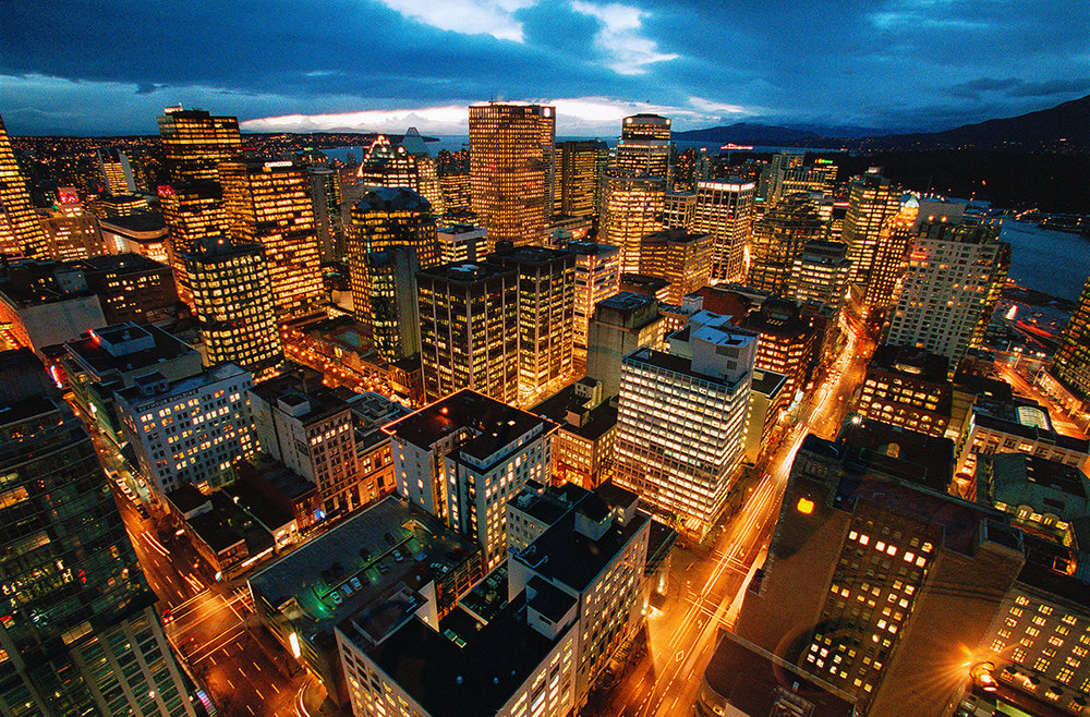 Vancouver Skyline at Dusk, Vancouver, British Columbia