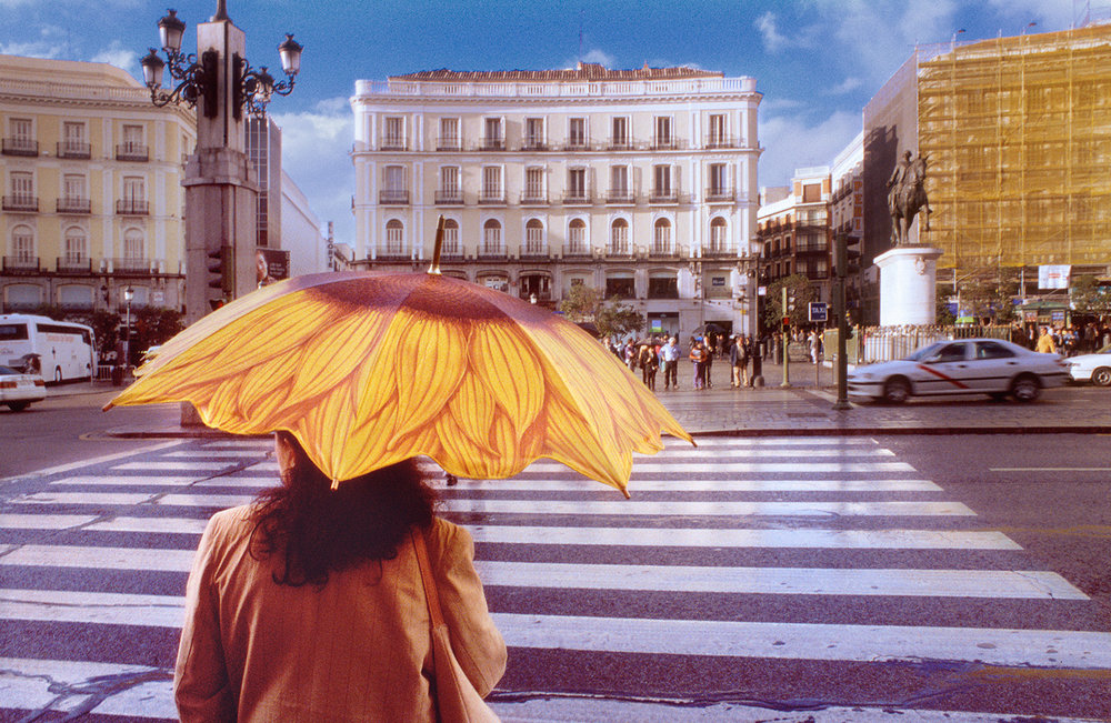 Woman with Parasol, Madrid, Spain