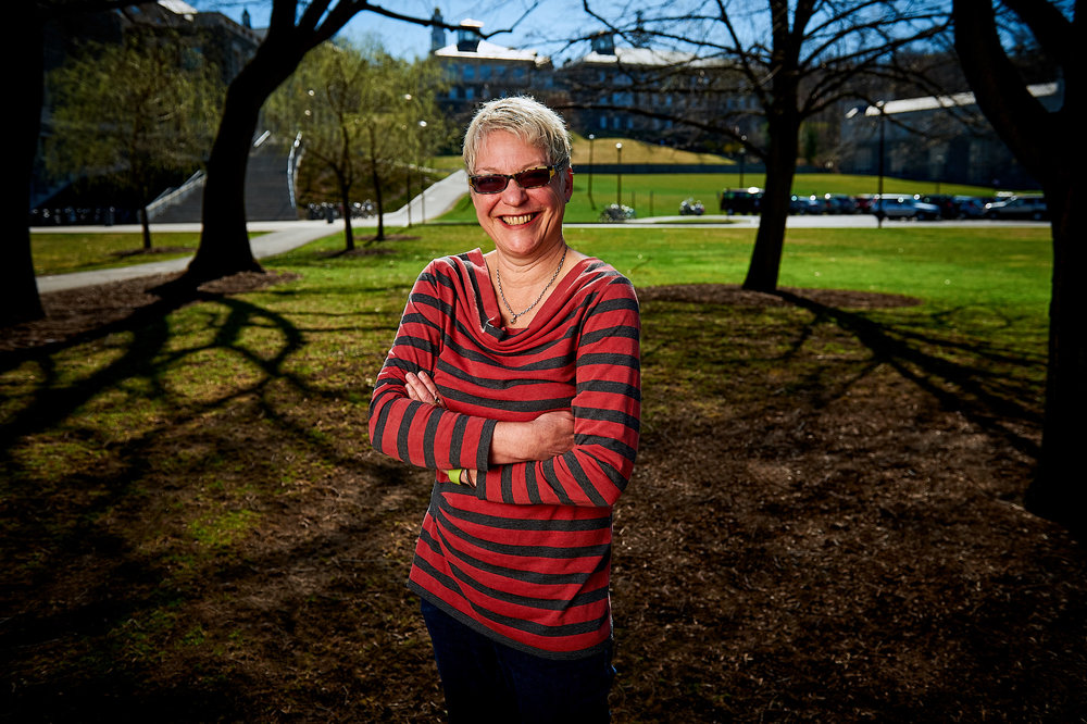 Kathy High, Associate Professor of Video and New Media at Rensselaer Polytechnic Institute, photographed on the Colgate University Campus
