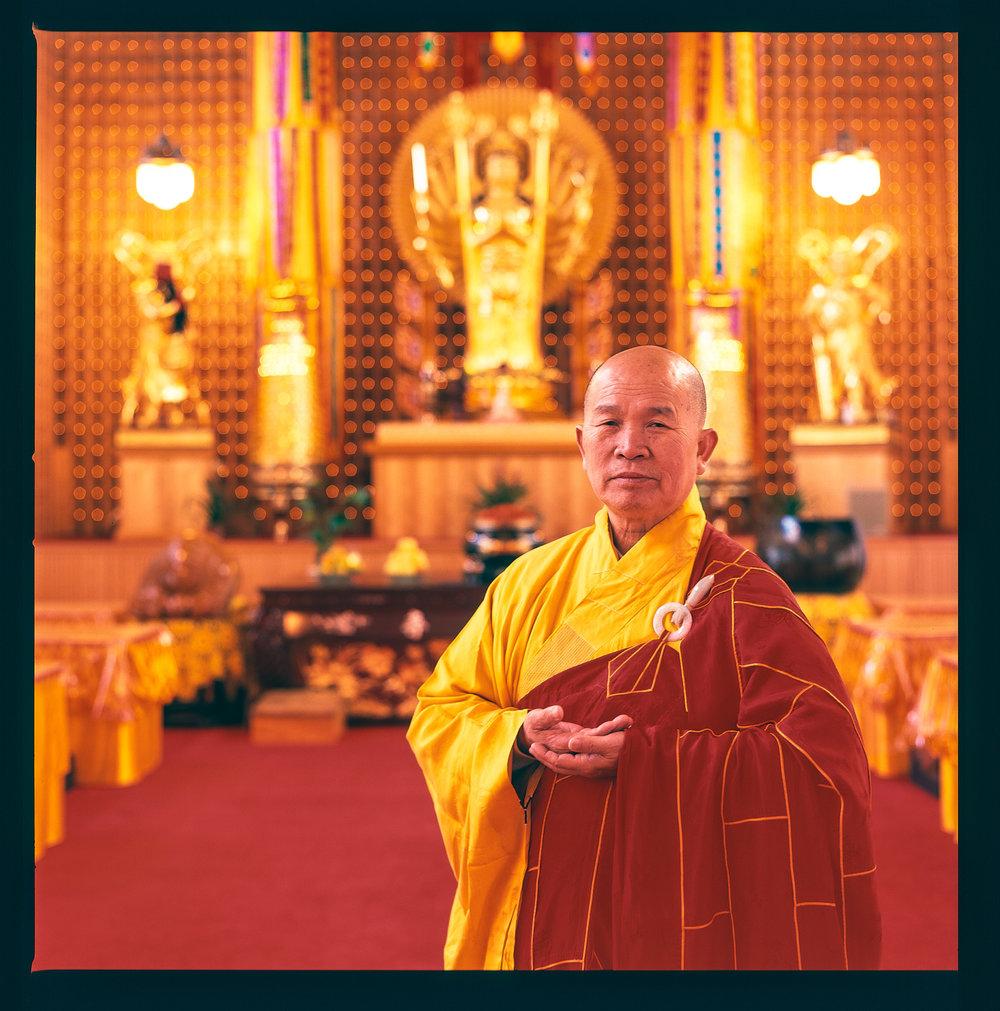 Master Hsin Tien, Buddhist Abbot, Portland Buddhist Temple, Portland, Oregon