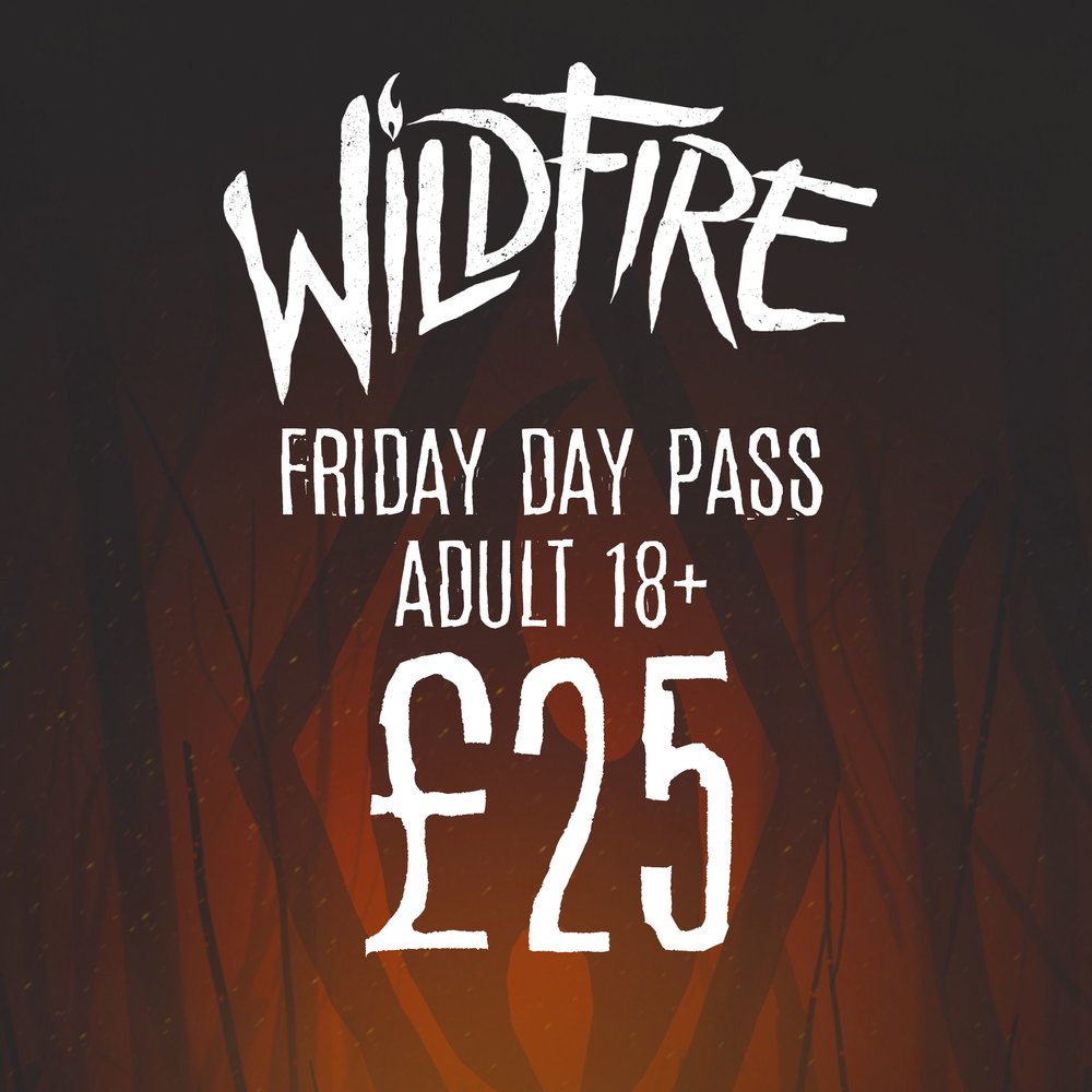 FRIDAY DAY PASS (AGES 18+) £25.00