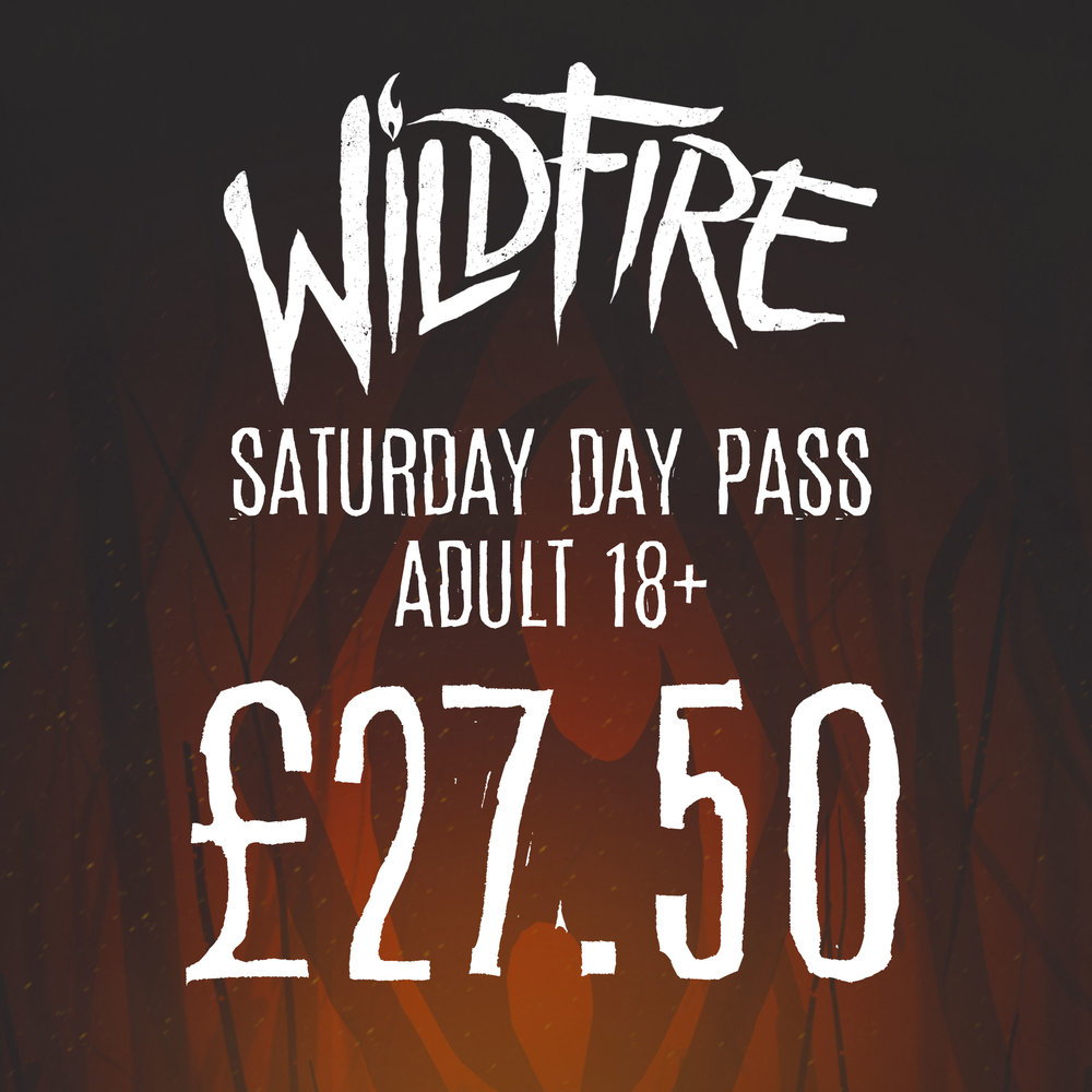 SATURDAY DAY PASS (AGES 18+) £27.50