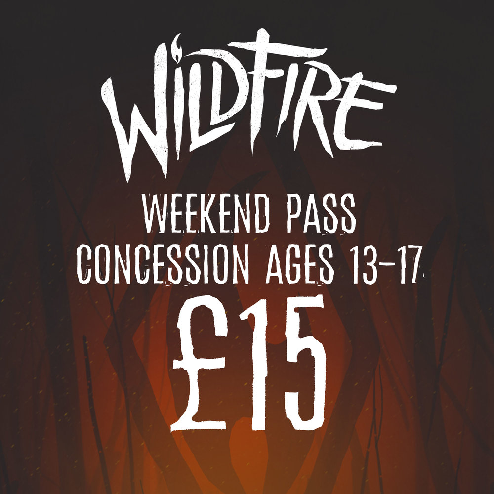 WEEKEND PASS (AGES 13-17) £15.00