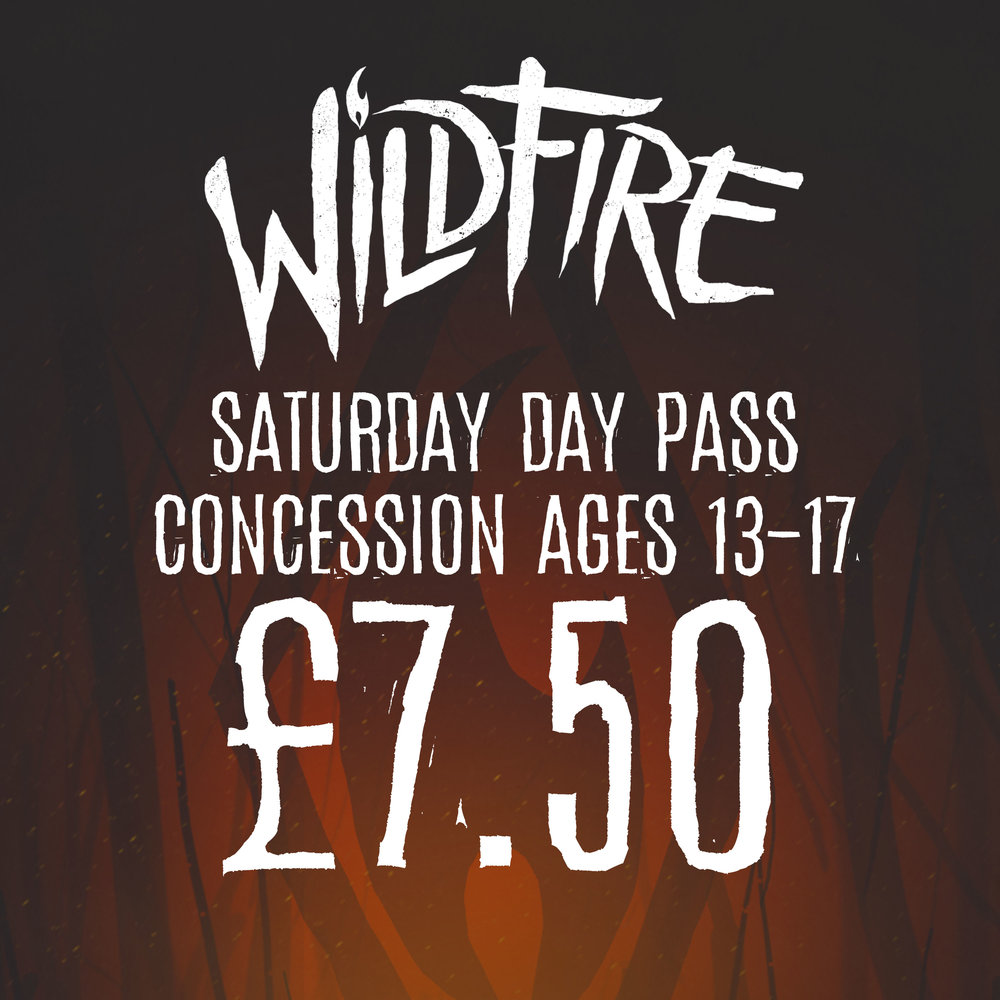 SATURDAY DAY PASS (AGES 13-17) £7.50
