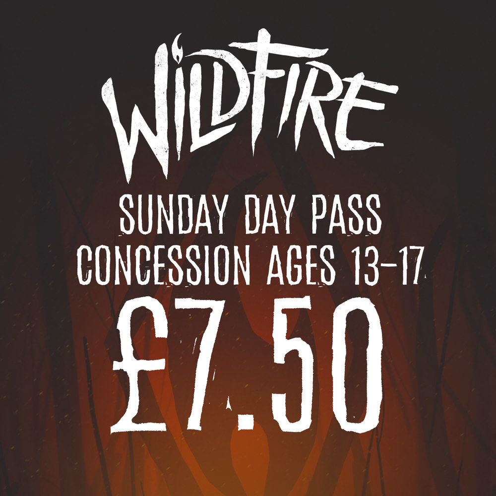 SUNDAY DAY PASS (AGES 13-17) £7.50