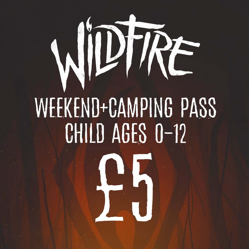 WEEKEND + CAMPING PASS (AGES 0-12) £5.00