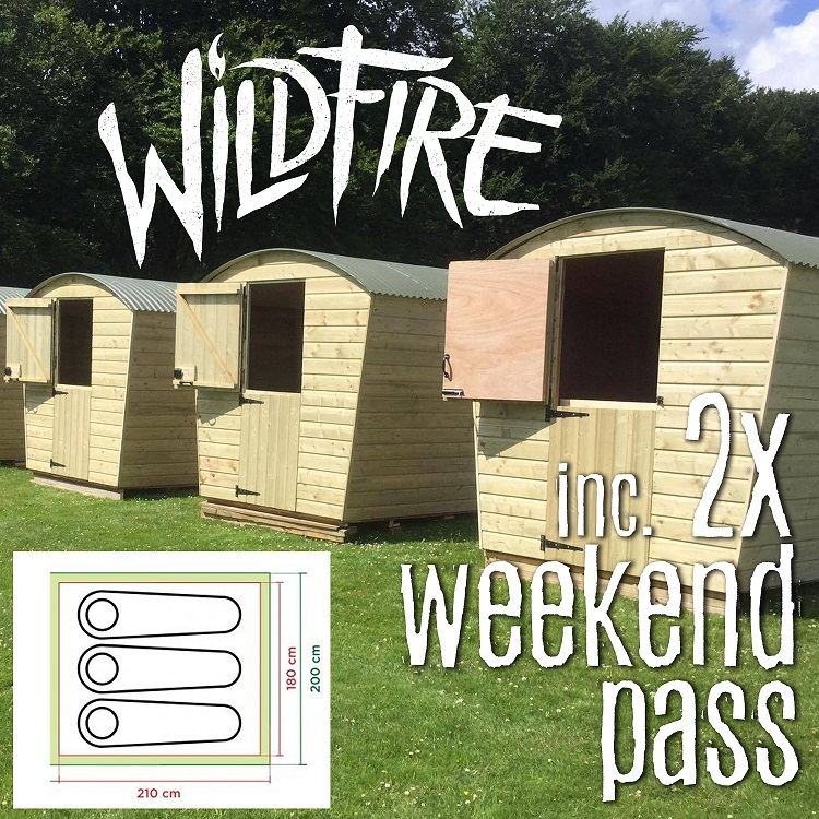 GLAMPING POD + 2 WEEKEND PASSES (AGES 18+) £400.00